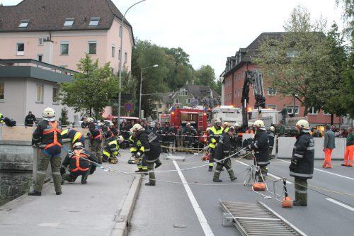 Im Bereich der Montfortbrücke wird die Übung stattfinden. Von 20 bis 23 Uhr ist diese dann auch für den gesamten Verkehr gesperrt. Stadt Feldkirch