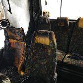 Mobiler Zusatzakku steckt Reisebus in Klösterle in Brand