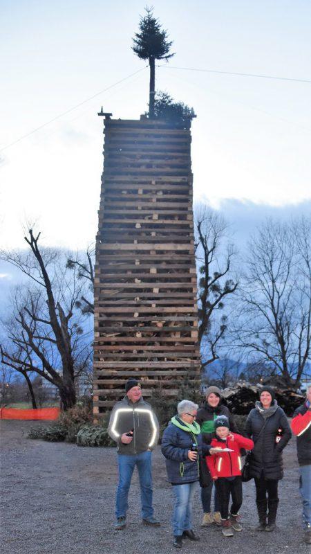 Im Oberdorf fand der Funken wie geplant statt.lcf