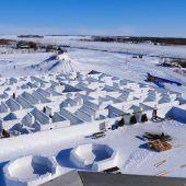Weltgrößtes Labyrinth aus Schnee