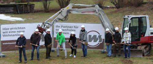 In der Gemeinde Langen wird eine neue Kleinwohnanlage errichtet.