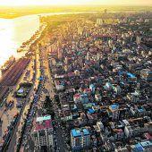 Modernes Leben in Yangon