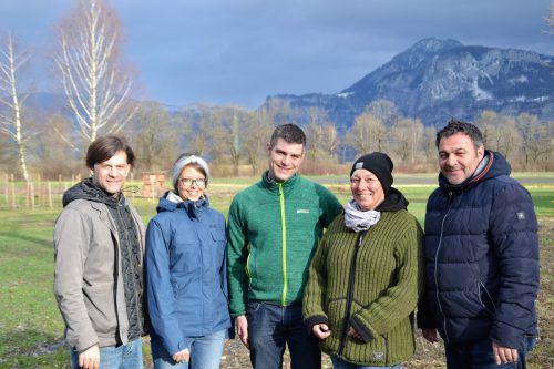 Integra-Team: Stefan Koch (GF), Stefanie Kremmel (Projektleiterin), Simon Ölz (Bereichsleiter), Maren Grimke (Arbeitsanleiterin) und Robert Baljak (GF). Integra