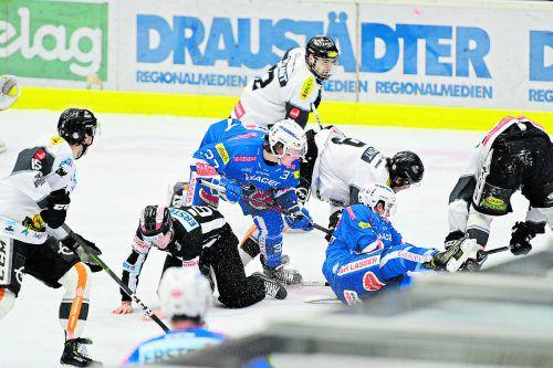 Kampf wird wieder Trumpf sein, wenn sich heute der Dornbirner EC und Villach beim Retourspiel in der Qualifikationsrunde gegenüberstehen.cd/Mitterberger