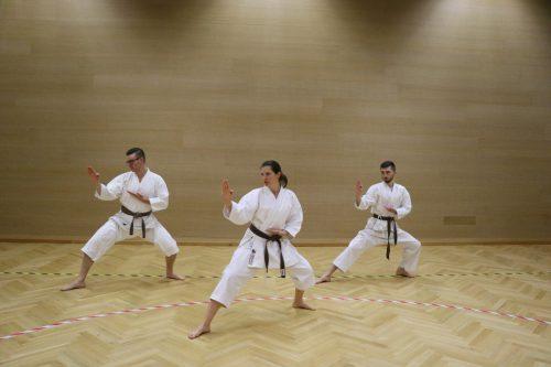 Karatekas werden im Stil des Shotokan Karate unterrichtet. Sarah Bernardi