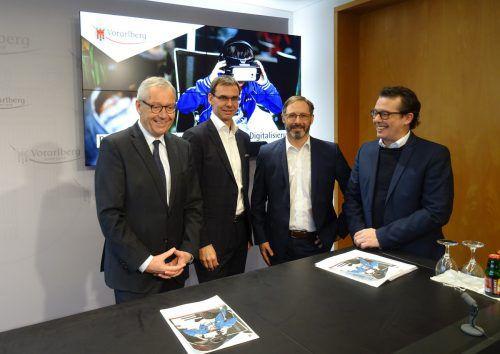 Karlheinz Rüdisser, Markus Wallner, Andreas Salcher, Hans-Peter Metzler.