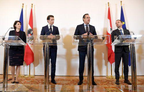 Kurz lädt unter anderem Edtstadler, Strache und Kickl zu einem Gespräch ins Bundeskanzleramt. APA