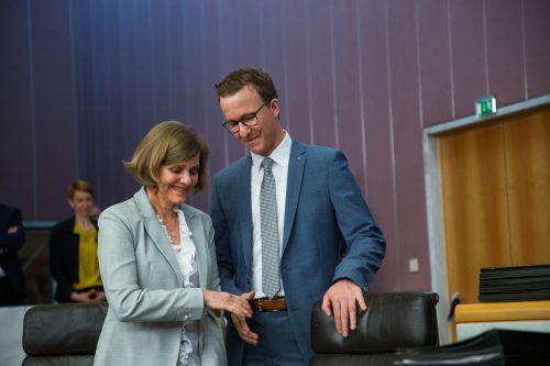 Landesräte Schöbi-Fink und Gantner gelten für LH Wallner als Fixstarter für LT-Wahl 2019. VN/Steurer