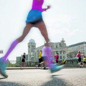 Schnelle Läufer hüpfen mehr
