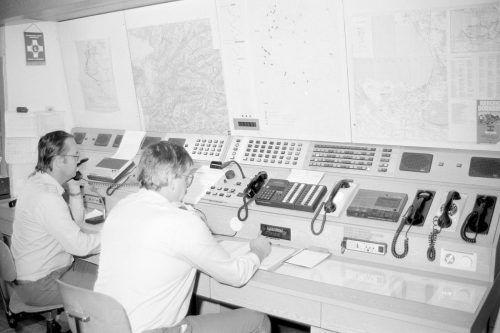 Leitfunkstelle des Roten Kreuzes im Jahr 1986.