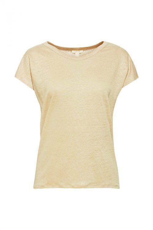 lockerer Schnitt             Meliertes T-Shirt mit feinen Knötchen aus 100 Prozent Leinen. Gesehen bei Esprit (nur online) um 29,99 Euro.