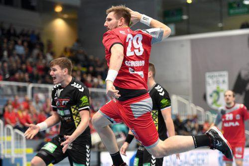 Lukas Schweighofer will im Trikot des Alpla HC Hard gegen seinen Stammverein Graz keine Punkte liegen lassen.GEPA