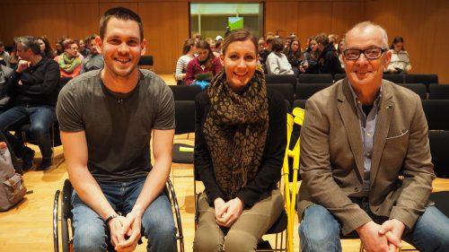 Manuel Riedmann, Heike Eder und Christian Häusle sprachen vor zahlreichem Publikum. CEG