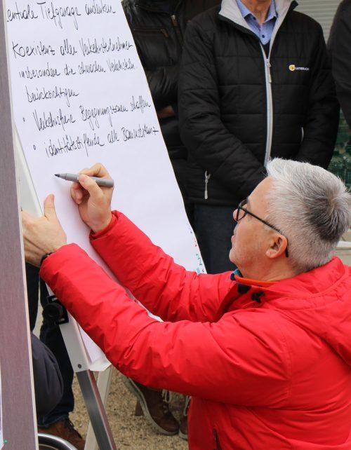 Marc Anders hielt Wünsche, Ideen und Anregungen fest.