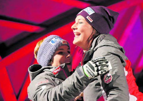 Nicole Schmidhofer oder Ramona Siebenhofer? Eine der beiden darf sich beim Weltcupfinale über die Kristallkugel in der Abfahrt freuen. gepa
