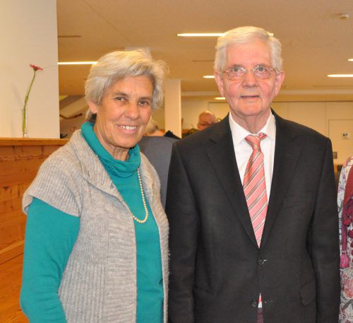 Obmann Hans Mayr und Stellvertreterin Martha Rödhammer.
