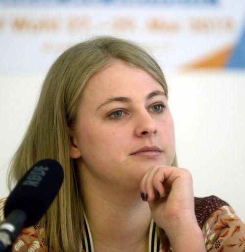 ÖH-Vorsitzende Hannah Lutz (VSStÖ) ist mit dem Wahltermin unzufrieden.APA