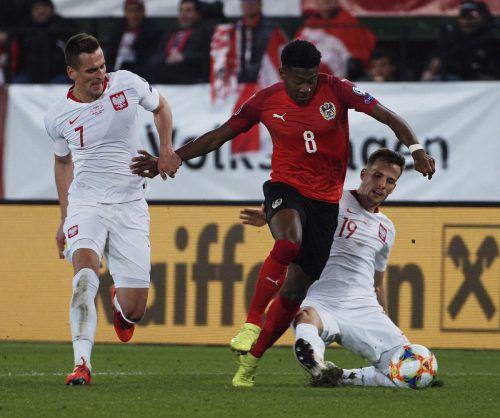 Österreichs Nationalteam muss im wichtigen Auswärtsspiel in Israel auf David Alaba verzichten - muskuläre Probleme.gepa