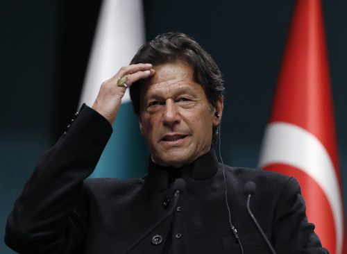 Pakistans Ministerpräsident Imran Khan will Krieg mit Indien verhindern. ap
