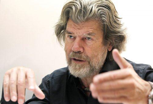 Reinhold Messner präsentiert neue virtuelle Sichtweisen auf die Berge. AFP