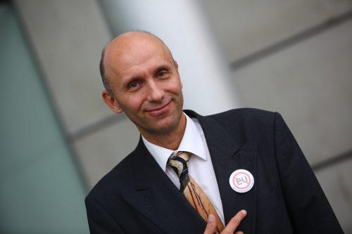 Robert Marschall von der EU-Austrittspartei hofft auf erfolgreichen Endspurt. VN