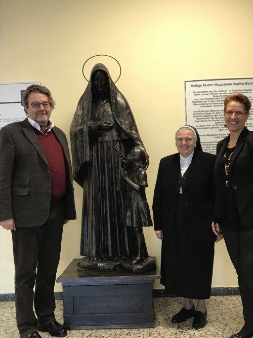 Rudolf Luftensteiner, Schwester Cäcilia Kotzenmacher und Maria Habersack von der VOSÖ freuen sich auf die Herausforderung Riedenburg. VN/Hämmerle