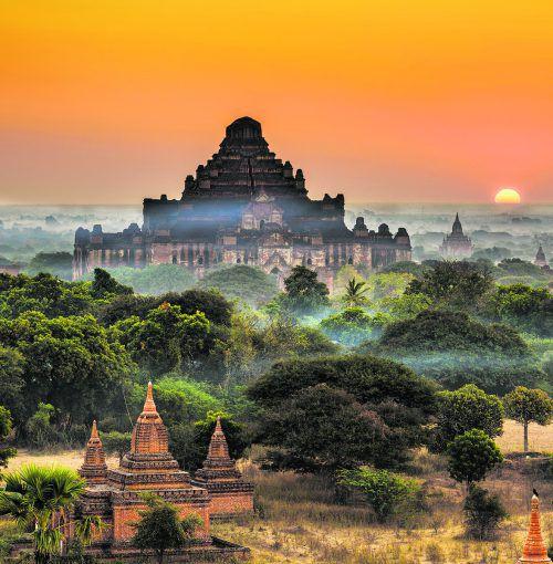 Rund 570 Kilometer von Yangon entfernt befindet sich die Königsstadt Bagan mit mehr als 2200 sakralen Bauten. shutterstock (5)