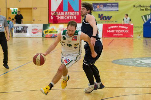 Sebastian Gmeiner konnte neben seinen 13 Punkten auch noch mit sechs Assists und fünf Rebounds zum Sieg beitragen.VN/Stiplovsek