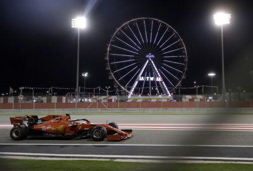 Sebastian Vettel lieferte am ersten Trainingstag für den Bahrain-Grand-Prix die schnellste Zeit ab.ap