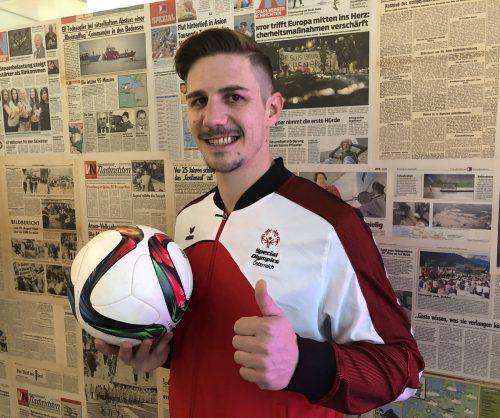 Simon Bischof ist seit sechs Jahren Unified-Partner bei den Special Olympics. VN/JD