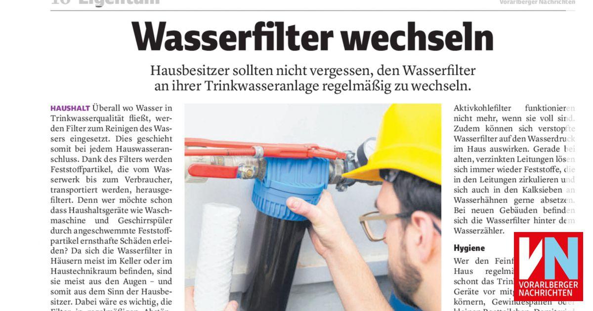Top Wasserfilter wechseln - Vorarlberger Nachrichten   VN.AT DW55