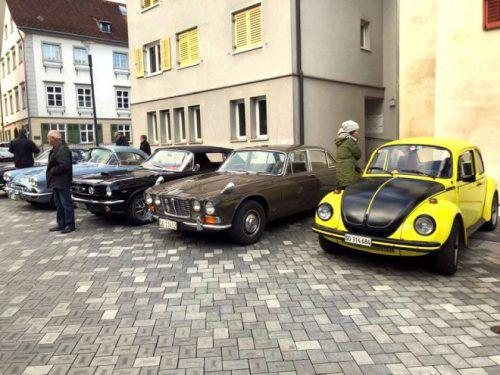 Start und Ziel des Oldtimer-Rennens war der Hohenemser Schlossplatz. Stadt