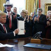 Trump legt Veto gegen Kongress ein