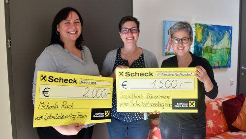 Ulrike Rhomberg, Heike Spiegel und Cornelia Rhomberg freuen sich, wohltätige Zwecke unterstützen zu können. loa