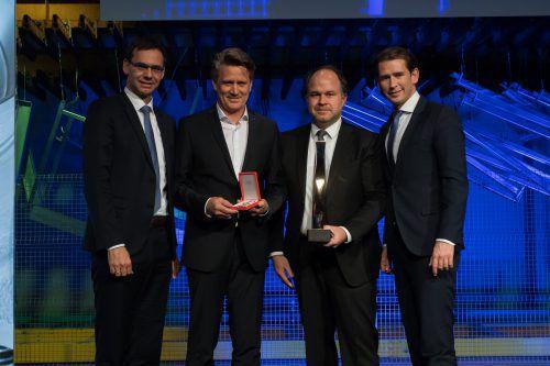 Unternehmer Christian Beer wurde mit dem VN-Wirtschaftspreis sowie dem Ehrenzeichen der Republik Österreich ausgezeichnet.