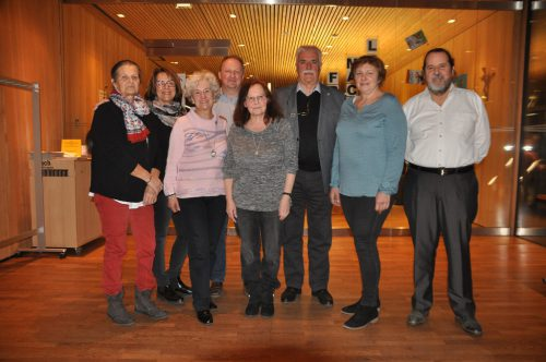 Vorstand des GKPV (v. l.): Angelika Metzler, Monika Vonbrül, Anni Matt, Christoph Thöni, Renate Larcher, Obmann Hans Bösch, Annelies Schiefer und Herbert Metzler.