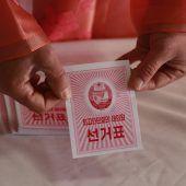 Nordkorea hat ein neues Parlament gewählt