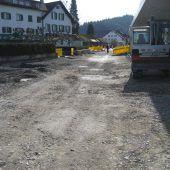 Bahnhofsvorplatz in Rankweil auf Zielgerade