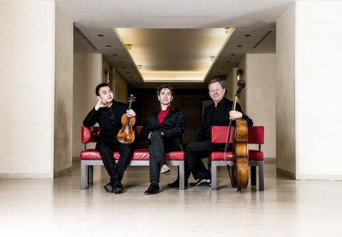 Ziyu He, Christopher Hinterhuber und Christoph Stradner (v.l.) gastieren am Freitag als Altenberg Trio in der Remise Bludenz. Veranstalter