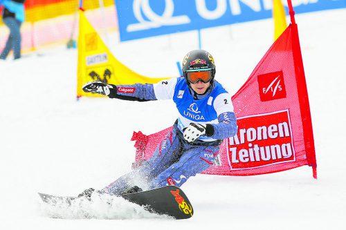 Zum dritten Mal in Serie holte sich Lukas Mathies bei den österreichischen Meisterschaften die Goldmedaille im Parallelriesentorlauf.gepa