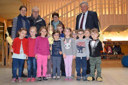 Auch die Kinder vom Kindergarten Susi Weigl konnten sich über die mitgebrachten Palmzweige freuen. Stadt Bludenz