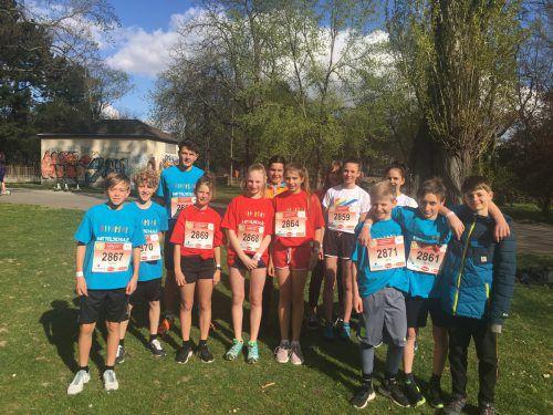 Auer Mittelschüler starteten erfolgreich beim Jugendlauf des Vienna City Marathons. mam