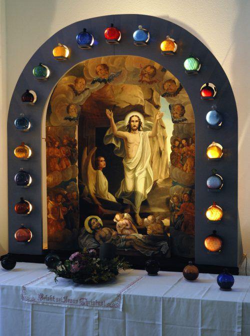 Auferstehungsszene in der Kirche Feldkirch-Tisis.R. Sagmeister
