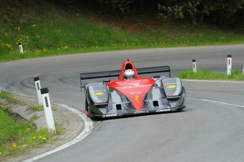 Auto gut, Fahrer gut: Christoph Lampert in seinem Osella FA 30 kam mit den Bedingungen am Rechberg bestens zurecht.lampert