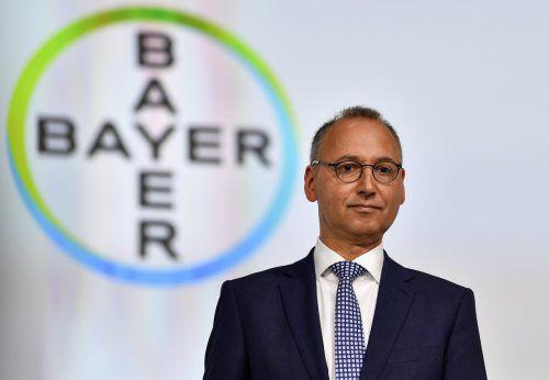 Bayer-CEO Werner Baumann hatte keinen Grund zur Freude. AP