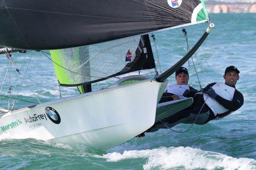 Benjamin Bildstein und David Hussl verbuchten bislang sechs Top-5-Plätze in den zwölf Wettfahrten vor Mallorca.OeSV