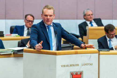 """Blauer Landesparteichef Christof Bitschi wird nicht von allen als """"ministrabel"""" gesehen. VN"""