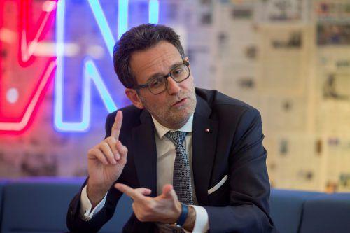 """BTV-Chef Gerhard Burtscher: """"Vorgangsweise ist unüblich."""" VN/Paulitsch"""