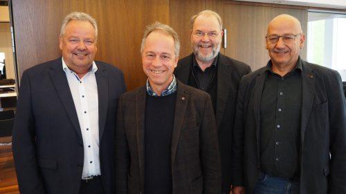 Bürgermeisterkollegen: Karl Wutschitz, Roman Kopf und Werner Müller (v.l.).