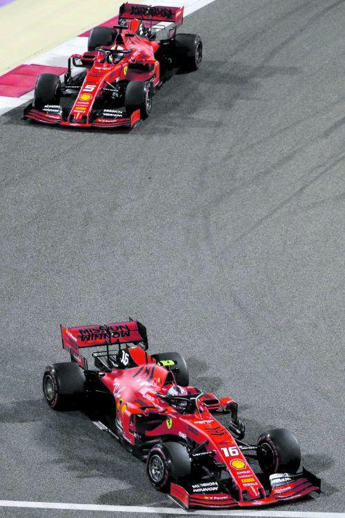 Charles Leclerc und Sebastian Vettel sollen Ferrari in China salonfähig machen.apa
